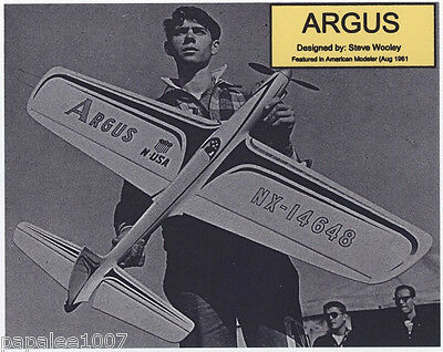 Model Airplane Plans: ARGUS UC Classic Stunt for .29 to .35 by Steve Wooley