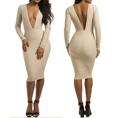 Sexy Club Stage Celebrity Bandage Bodycon Fashion Cocktail  Party Pencil Dress