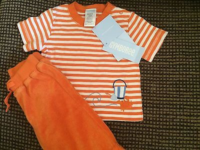 Gymboree Baby Boy Beach Outfit Crab Size 3-6 Months