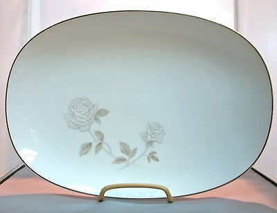 "Noritake China Rosay 13"" Oval Serving Platter"