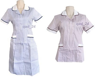 Womens Nurse Ladies Girl Uniform Healthcare Medical Hospital Tunic Top Female