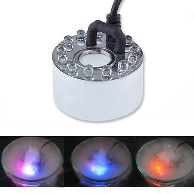 LED Mist Maker Fogger Water Fountain Fog Machine Air Humidifier - 6 or 12 LED's