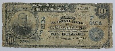 1902 $10 8104 First National Bank of Colville, WA Date Back Fr.617 Only 2 Known