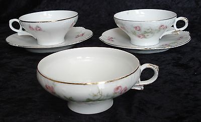 Lot of 5 Heinrich cups saucers pink roses HC 1408 Bavaria