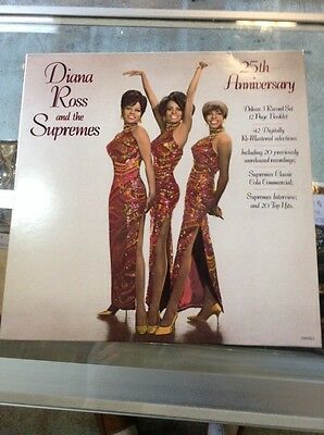 Diana Ross And The Supremes 25th Anniversary Vinyl Record 5381ML3 Motown 3 LP's
