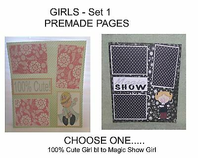 """""""GIRLS"""" -SET 1 - Premade Page 12x12-Choose One-Just Add Pics!"""