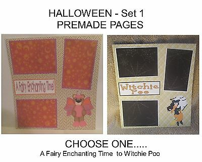 """""""HALLOWEEN"""" -SET 1 - Premade Page 12x12-Choose One-Just Add Pics!"""