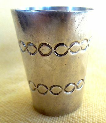 Early Taxco SHOTGLASS SHOT GLASS JIGGER Mexico Mexican*Pre-Eagle*Sterling Silver