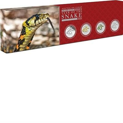 2013 Australia Year Of The Snake 4 Coin Silver Proof Type Set Perth Mint 1/1500