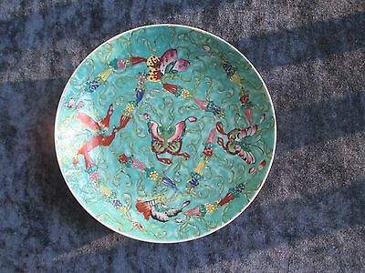"""""""Hildegard"""" Japanese PORCELAIN BOWL, painted in Hong Kong, A++, lovely colors!!"""