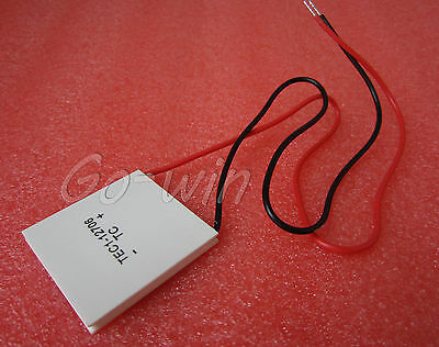 2pcsTEC1-12706 Heatsink Thermoelectric Cooler Cooling Peltier Plate Modul12V 60W