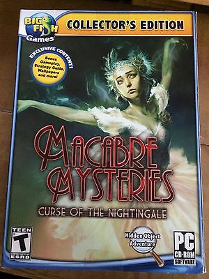 Macabre Mysteries Curse of the Nighingale PC Game 2012 Collector's Edition NIB