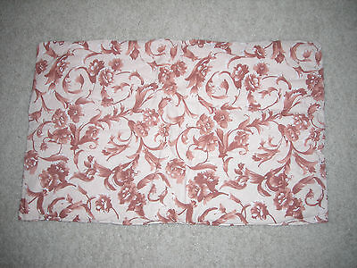"""Brown & Apricot Quilted Handmade Baby Changing Pad Blanket Cushion 17"""" x 27"""""""