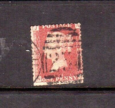 GREAT BRITAIN 1858 1d red used plate 180?