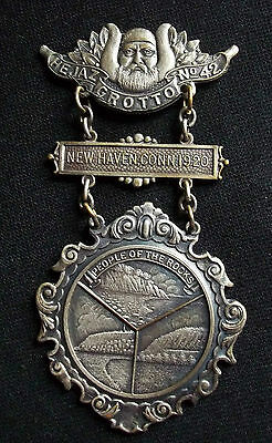 FRATerNAL Old Merrick FOOTE & Co.  HEJA GROTTO No. 42 PEOPLE of the ROCK's MEDAL