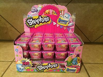 NEW SHOPKINS *SEASON 2* Package of 3 BLIND SHOPPING BASKETS..