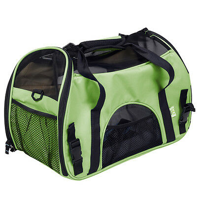 Green Pet Carrier OxFord Soft Sided Cat/Dog Travel Tote Shoulder Bag Small