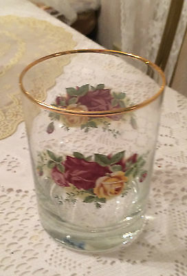 ROYAL ALBERT OLD COUNTRY ROSES GLASSWARE --- DOUBLE OLD FASHIONS  -- 1 AVAILABLE