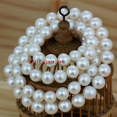 """Noble AAAAA 35""""11-12mm REAL south sea NATURAL white pearl necklace 14K"""