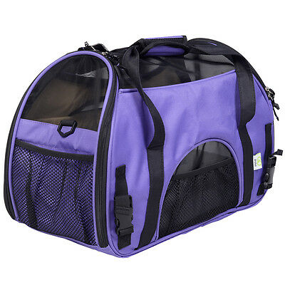 Purple Pet Carrier OxFord Soft Sided Cat/Dog Travel Tote Shoulder Bag Small