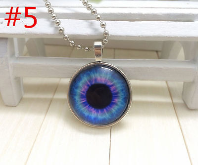 NEW Silver Plated Photo Prismatic cat eye Alloy Necklaces & Pendants&191