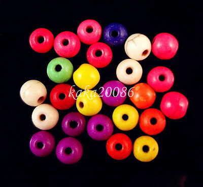 Lot 50pcs mixed color Turquoise round loose beads 6mm For jewelry making