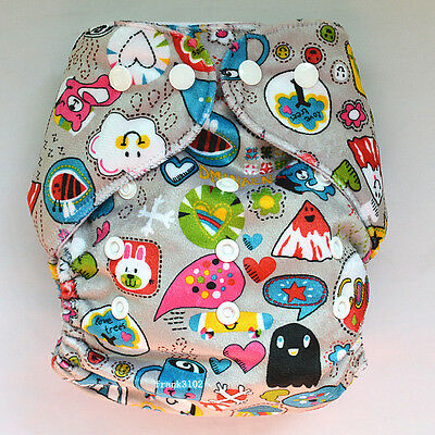 1 Love Trees Baby Cloth Diaper Reusable Washable Adjustable Pocket Nappy Minky