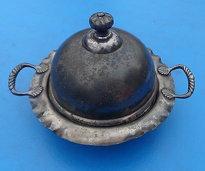 Butter Dish Domed Pairpoint Mfg Co 544 Quadruple Plate Antique Silver Plate