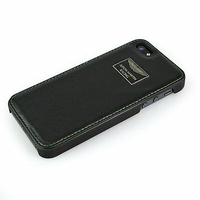 Aston Martin Original Genuine Leather Hard Back Case Cover For iPhone 5 5S Black