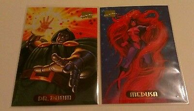 DR DOOM #31 & MEDUSA #73 1994 Fleer Marvel Masterpieces Trading Card Set