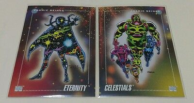 ETERNITY #155 & CELESTIALS #156 MARVEL UNIVERSE 1992 SERIES 3 III CARD Set