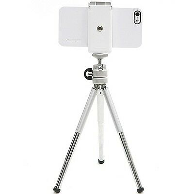 SMART PHONE WHITE CRADLE Mini Tripod Stand for Cell Phones iPhone Galaxy Camera