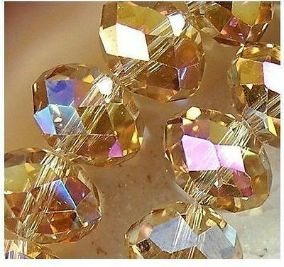 Free shipping ! 100pcs 3x4mm Champagne Crystal Loose Bead HOT!