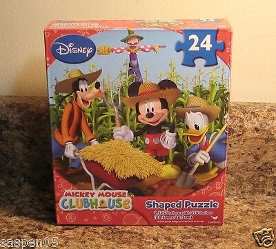 Disney MICKEY MOUSE CLUBHOUSE 24 Piece Puzzle FARM with Friends  NEW