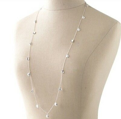 New Lady stella major suit geometric Silver Drops Long Collar Dot Necklace