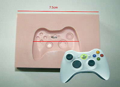 Silicone Mould Mold Games Controller  Xbox 360 Icing Cake Card Topper Fimo