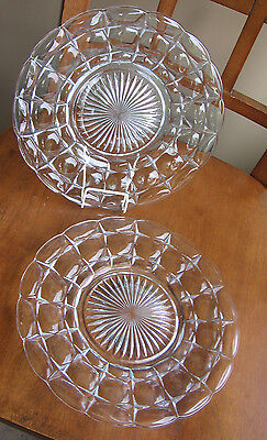 "LOT Indiana Glass Vintage 9.25"" Plate Constellation Thumbprint Crystal Elegant"