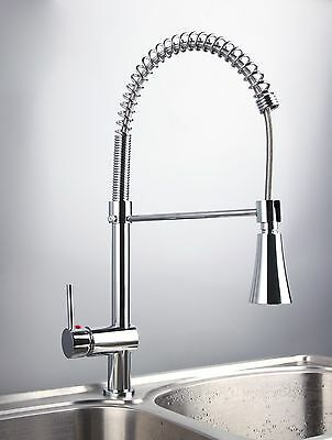 CN14 LED Pull Out up&down Kitchen Sink Mixer Tap Chromed Swivel Faucet