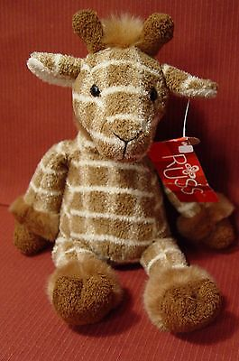 "Russ Shammies Gumbo Giraffe Plush Stuffed Animal, Brown Checkered 11"" with tags"