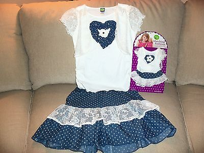"Dollie & Me Blue and White Polka Dot Matching Fashions for Girls and 18"" Doll 12"