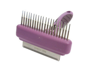 Dog Grooming- Rosewood Combo Comb & Moult Stoppa - Small - (07112)