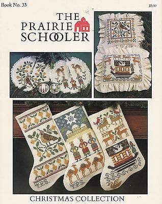 Prairie Schooler Christmas Collection Counted Cross Stitch Pattern #33 Stockings