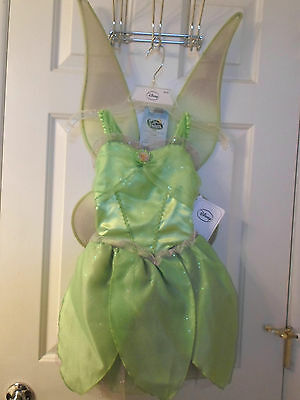 Disney Fairies Tinker Bell Costume with Wings - New