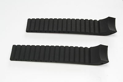 Silicon Watch Band / Strap fits Fortis B42 series-matte-Deployant buckle style