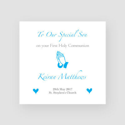 Personalised Handmade First Holy Communion Card - For Him, Son, Grandson, Nephew