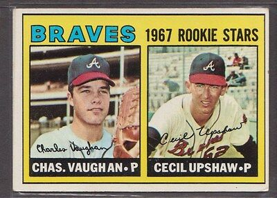 1967 Topps #179 Braves Rookies RC CHARLEY VAUGHN / CECIL UPSHAW EX