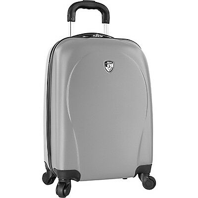 """Heys America xCase 21"""" Carry-On Spinner - Silver Hardside Luggage NEW"""
