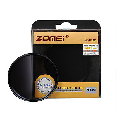 ZOMEI 82MM Graduated Gradual Grey ND4 Filter for DSLR Canon Nikon Sony Pentax
