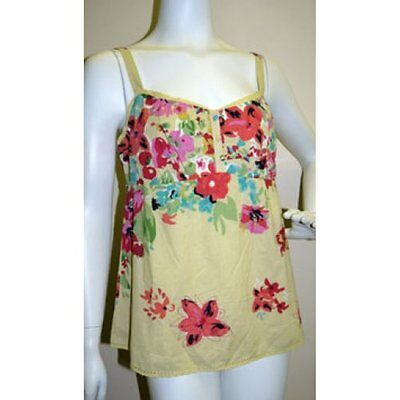 Ex M&S New Girls Ladies Cotton Strappy Floral Print Camisole Top Vest Size 10-14