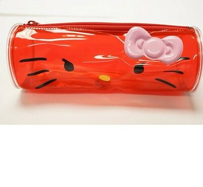 SANRIO Hello Kitty PCV Red Pen Pouch KT 100% Brand New /Authentic)
